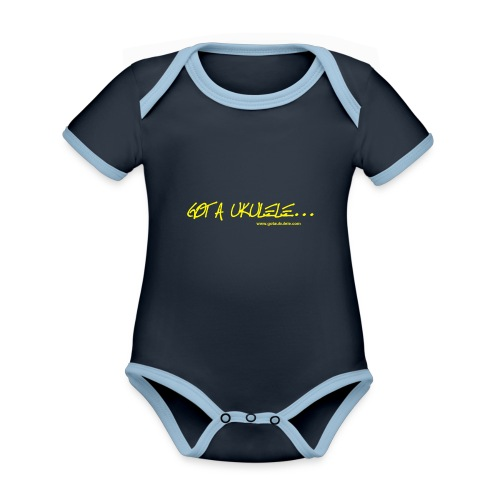 Official Got A Ukulele website t shirt design - Organic Baby Contrasting Bodysuit