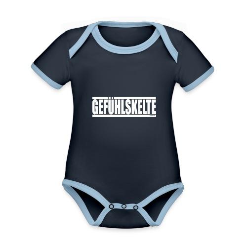 Gefühlskelte - Baby Bio-Kurzarm-Kontrastbody