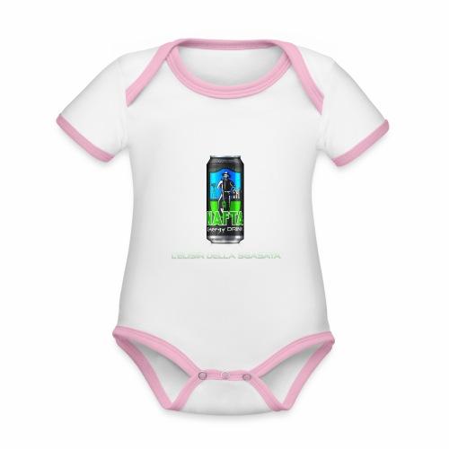 Nafta Energy Drink - Body da neonato a manica corta, ecologico e in contrasto cromatico