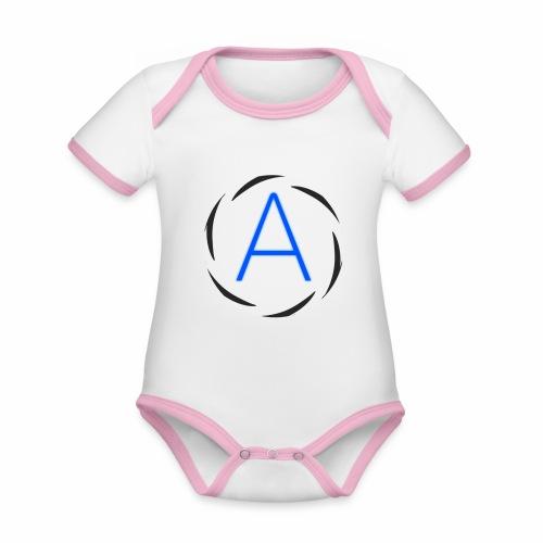 Icona png - Body da neonato a manica corta, ecologico e in contrasto cromatico