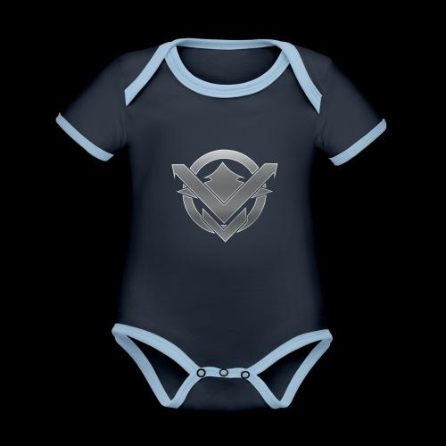 SVN Arts logo - Baby contrasterend bio-rompertje met korte mouwen