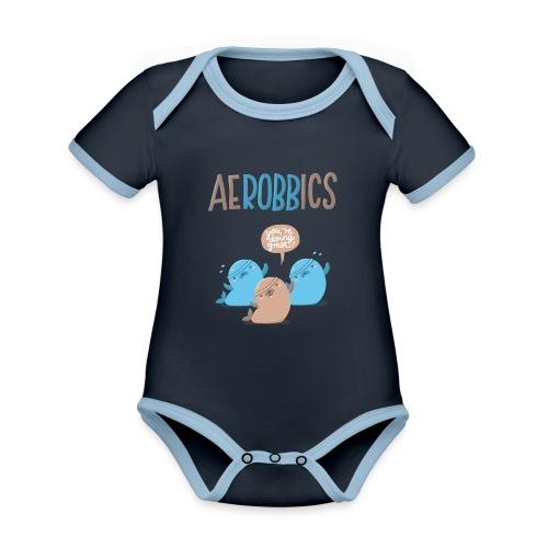 Aerobbics funny - Baby Bio-Kurzarm-Kontrastbody