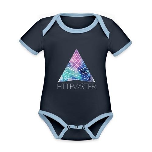 HTTPSTER - Baby contrasterend bio-rompertje met korte mouwen