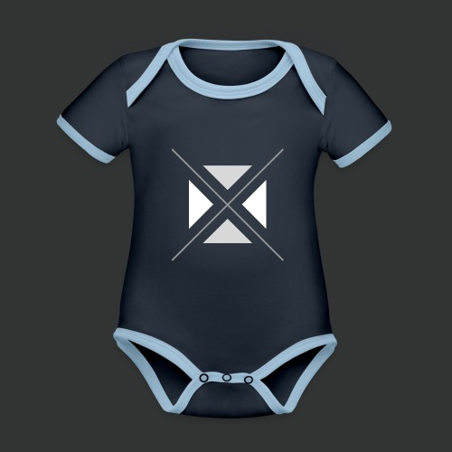 hipster triangles - Organic Baby Contrasting Bodysuit