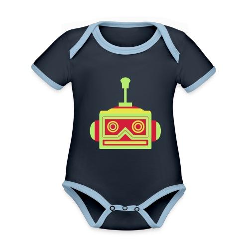 Robot head - Organic Baby Contrasting Bodysuit
