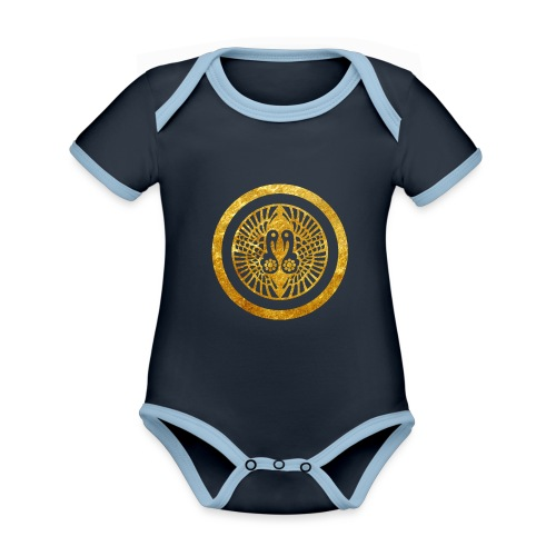 Ikko Ikki Mon Japanese clan - Organic Baby Contrasting Bodysuit