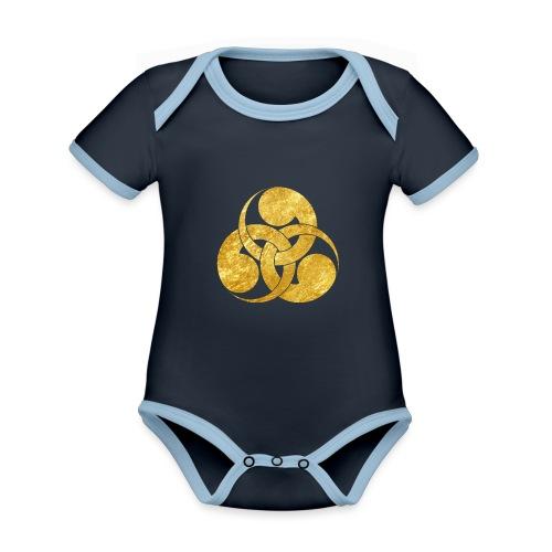 Tadpole Mon Japanese samurai clan - Organic Baby Contrasting Bodysuit
