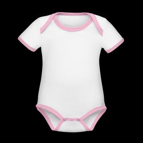 logo hvid png - Kortærmet økologisk babybody i kontrastfarver