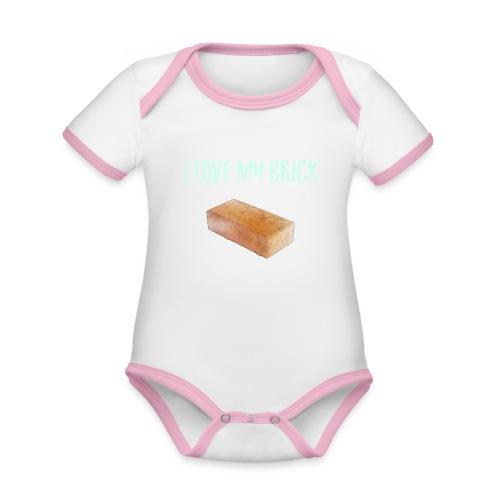 I love my brick - Organic Baby Contrasting Bodysuit