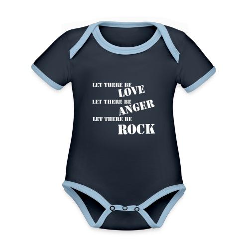 Love Anger Rock - Organic Baby Contrasting Bodysuit