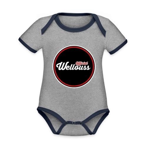 Wellouss Fan T-shirt | Rood - Baby contrasterend bio-rompertje met korte mouwen