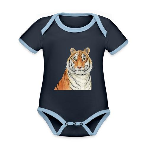 Tigre,Tiger,Wildlife,Natura,Felino - Body da neonato a manica corta, ecologico e in contrasto cromatico