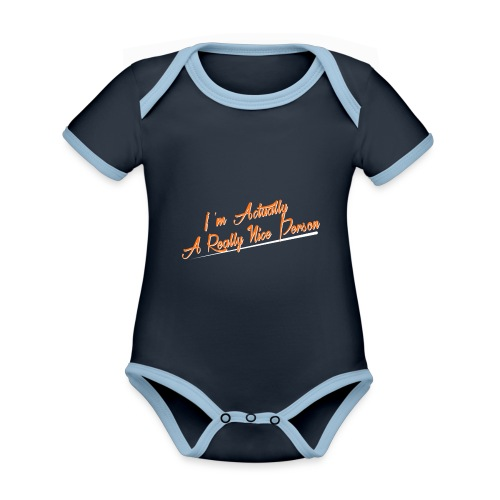 nice-person - Organic Baby Contrasting Bodysuit