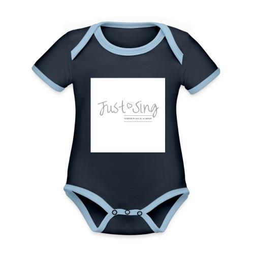 Just Sing - Organic Baby Contrasting Bodysuit