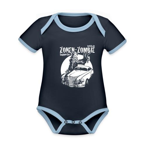 Zonen Zombie Supporter Shirt - Baby Bio-Kurzarm-Kontrastbody