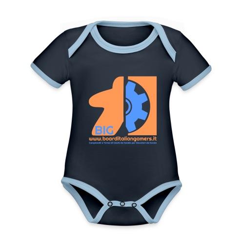 BIG - Body da neonato a manica corta, ecologico e in contrasto cromatico