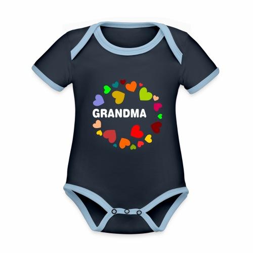 Grandma - Baby Bio-Kurzarm-Kontrastbody
