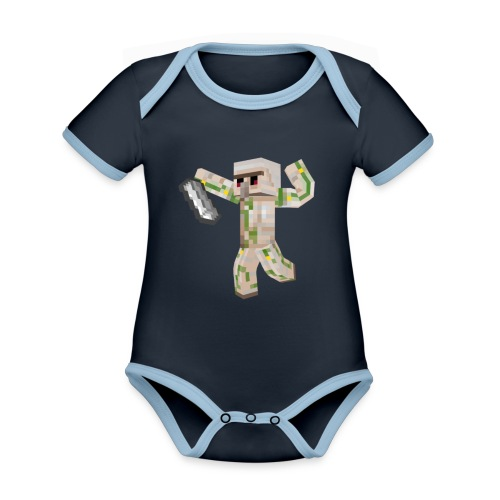 Starka GolemGamingYT - Ekologisk kontrastfärgad kortärmad babybody