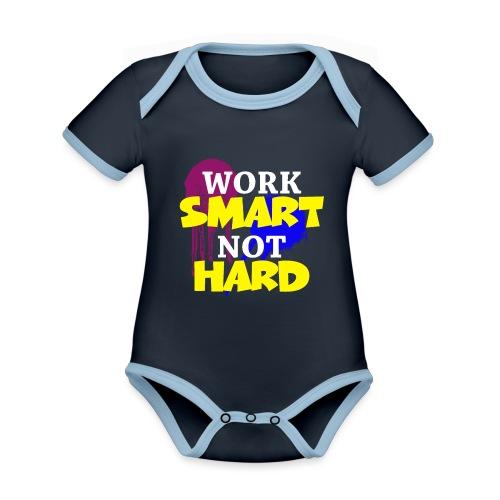 travailler intelligemment pas difficile - Body Bébé bio contrasté manches courtes