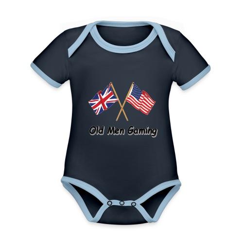 OMG logo - Organic Baby Contrasting Bodysuit