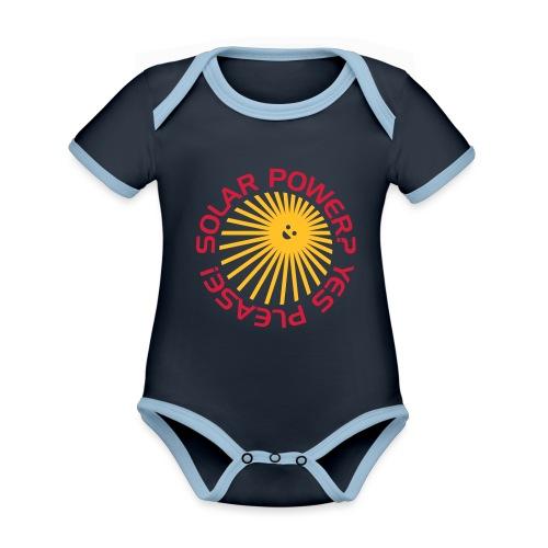 BD Solar Power - Baby Bio-Kurzarm-Kontrastbody