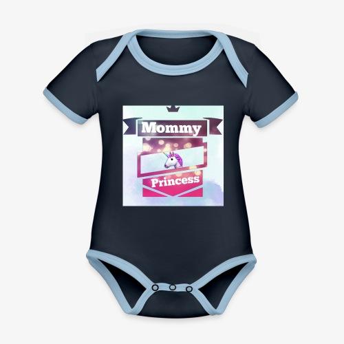 Mommy & Princess - Baby Bio-Kurzarm-Kontrastbody