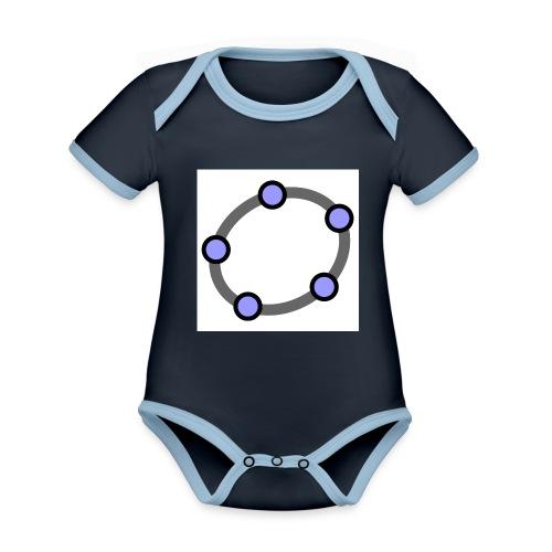 GeoGebra Ellipse - Organic Baby Contrasting Bodysuit