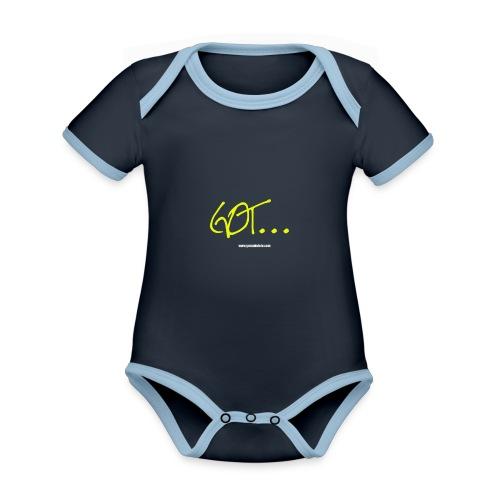 GOT LARGE LOGO - Organic Baby Contrasting Bodysuit