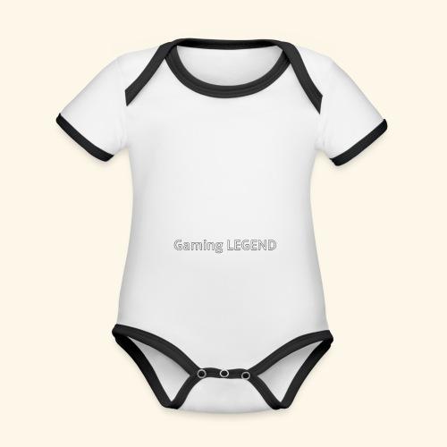 Gaming LEGEND - Baby contrasterend bio-rompertje met korte mouwen
