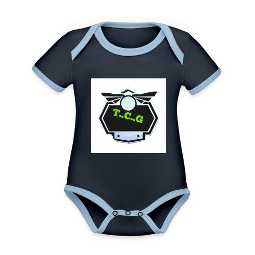 Cool gamer logo - Organic Baby Contrasting Bodysuit