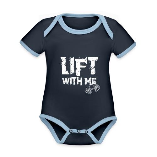 Lift With Me - Body da neonato a manica corta, ecologico e in contrasto cromatico
