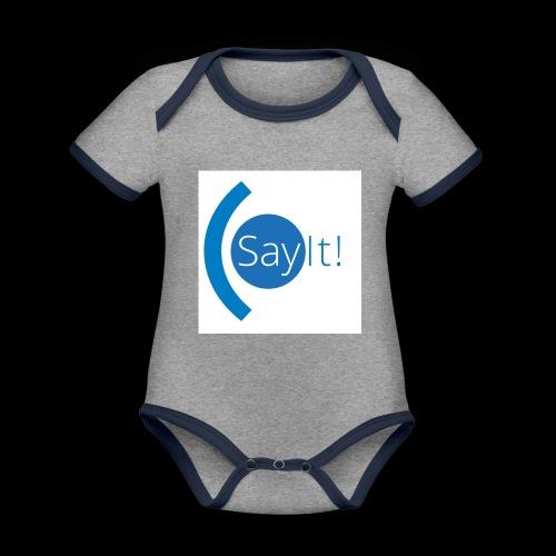 Sayit! - Organic Baby Contrasting Bodysuit
