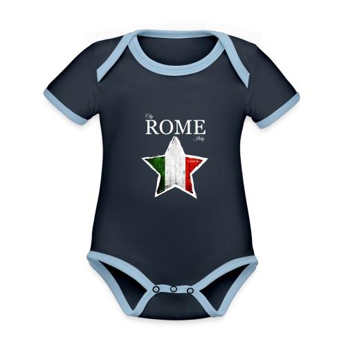 ROME - Organic Baby Contrasting Bodysuit