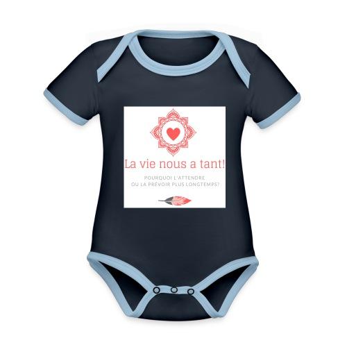 la vie! - Body Bébé bio contrasté manches courtes