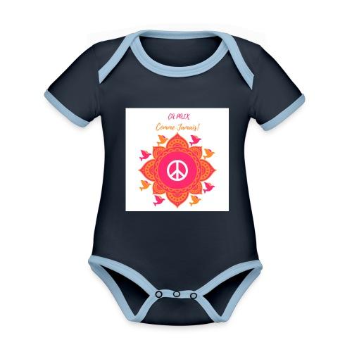 Ca paix comme jamais! - Body Bébé bio contrasté manches courtes
