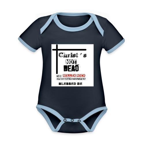 Christ's Not Dead - Body Bébé bio contrasté manches courtes