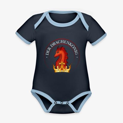Der Drachenkönig Logo - Baby Bio-Kurzarm-Kontrastbody