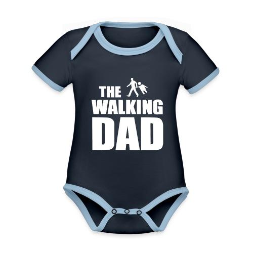 the walking dad weiss auf dem Weg in die lustige - Baby Bio-Kurzarm-Kontrastbody