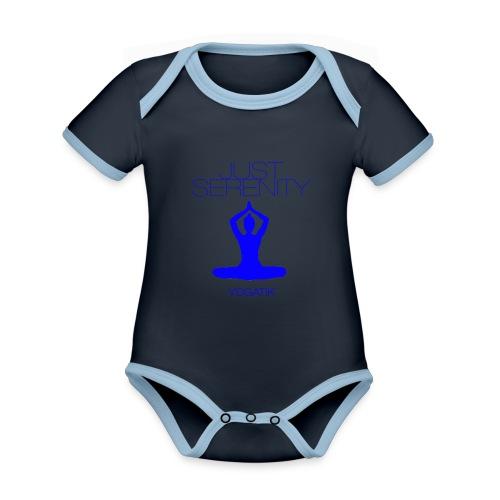 yogatyk blue - Body Bébé bio contrasté manches courtes