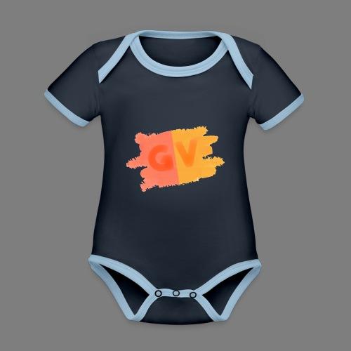 GekkeVincent - Baby contrasterend bio-rompertje met korte mouwen
