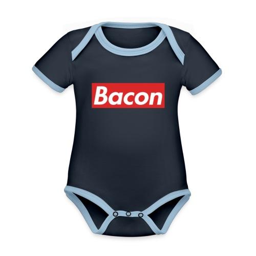 Bacon - Ekologisk kontrastfärgad kortärmad babybody