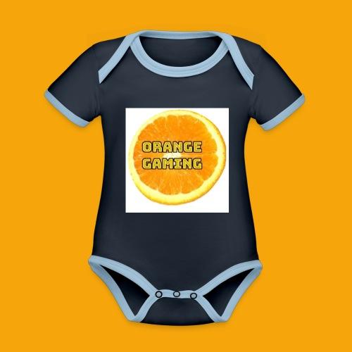 Orange_Logo_White - Organic Baby Contrasting Bodysuit