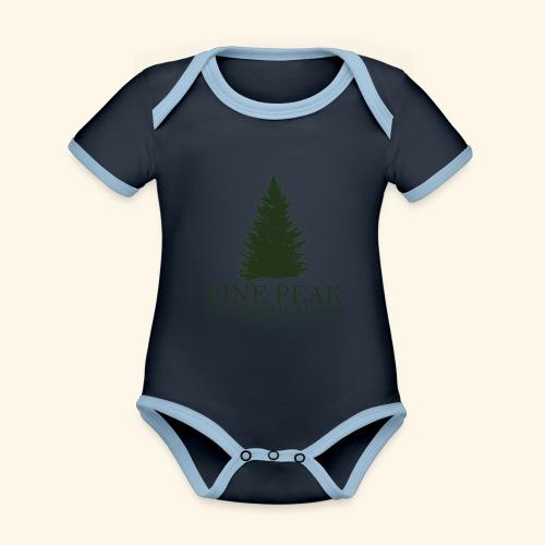 Pine Peak Entertainment - Baby contrasterend bio-rompertje met korte mouwen