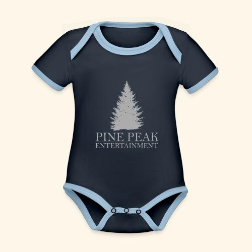 Pine Peak Entertainment Grey - Baby contrasterend bio-rompertje met korte mouwen