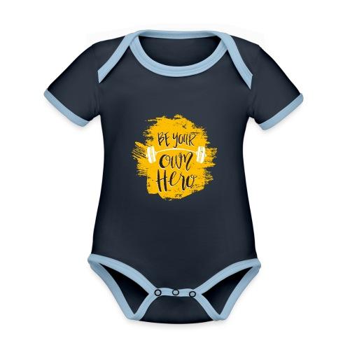 GYM Hero - Vauvan kontrastivärinen, lyhythihainen luomu-body