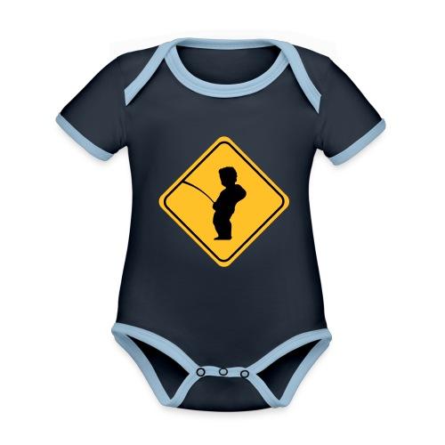 Manneken Pis sign - Body Bébé bio contrasté manches courtes
