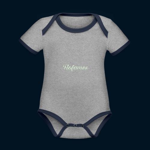 camicia di flofames - Body da neonato a manica corta, ecologico e in contrasto cromatico