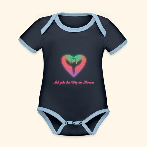 Ich gehe den Weg meines Herzens - Baby Bio-Kurzarm-Kontrastbody