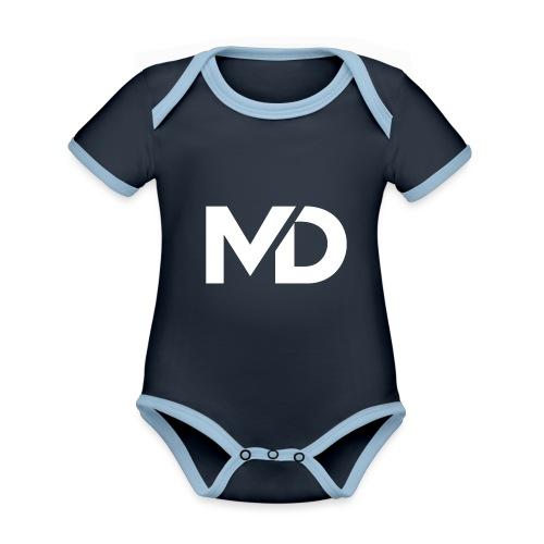 MD Clothing Official© - Body Bébé bio contrasté manches courtes