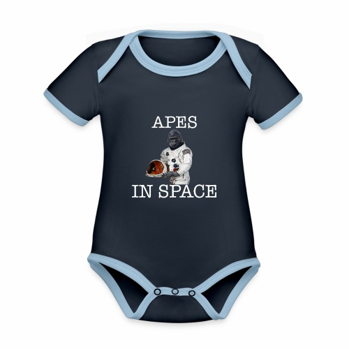 Apes in Space - Organic Baby Contrasting Bodysuit